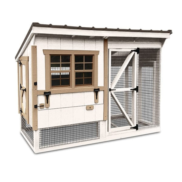 simple back yard coop with chicken run